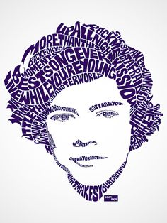 Using Song Lyrics, Artist Creates Typographic Portraits Of Popular Singers - DesignTAXI.com-Harry Styles