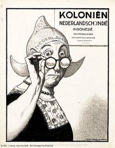 """""""Ik geloof warempel dat ik een andere bril nodig heb ...!"""" 1945 Politiek Tekenaar: Jordaan, Leendert Jurriaan De Groene Amsterdammer #NoordHolland #Volendam"""
