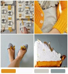{pretty palette} pumpkin pie + meringue