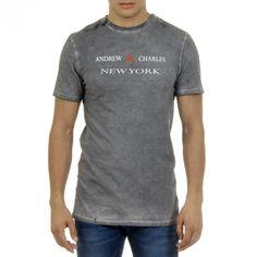 Andrew Charles Mens T-Shirt Short Sleeves Round Neck Light Grey Karita Mens Sleeve, Logo Sign, Short Sleeves, Shorts, Grey, Mens Tops, T Shirt, Composition, Hub