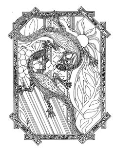 """Ang Kasal ng Bayawak by Lakandiwa on DeviantArt.  (The Bayawak's Wedding) Pen & Ink on Paper. From the artist's DeviantArt page: """"There is an obscure Tagalog folk tale that says if it is sunny and raining at the same time, bayawaks or monitor lizards get married on such days.   This belief has many parallelisms in other countries, such in Japan, it is the foxes that get married, and in Africa it is the hyena. Even in the Philippines, another variation is that they are tikbalang instead of…"""