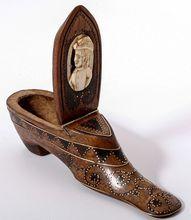 antique shoe snuff box