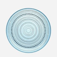 "iittala 10.5"" Kastehelmi Dewdrop Plate in Light Blue"