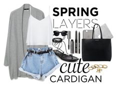 """spring cardigan"" by penguinx14 ❤ liked on Polyvore featuring MANGO, Alice + Olivia, Michael Kors, Native Union, Bobbi Brown Cosmetics, cutecardigan and springlayers"