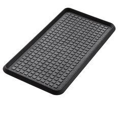 Amazon.com : Extra Weave USA Cross Check Pattern Boot Tray, 100% Natural Rubber, Black, 32 by 16-Inches : Outdoor Doormats : Patio, Lawn & Garden