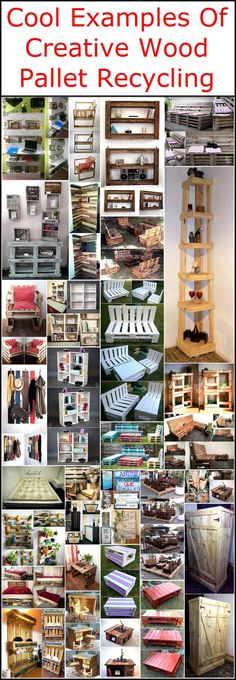 Eco-friendly and inexpensive. Upcycle wood pallets to make the bed, chair, tables, and other outdoor and indoor furniture for your home.