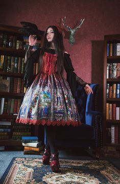 Surface Spell -The Rosary- Gothic Lolita Jumper Dress