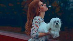 Lana Del Rey with dog