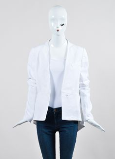 White Haider Ackermann Mixed Material Blazer Jacket
