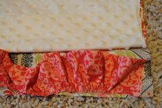 The Little Fabric Blog: Ruffled Minky Blanket Tutorial