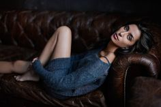 love the pose and the simple sweater - sexy but casual Aitana from Ford Models   Photography by Joey L