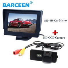 """2 in 1 with 4.3"""" cai display monitor +hd car rear camera for  Volkswagen VW Magotan PASSAT CC /Golf 5/ POLO hatchback / Jetta"""