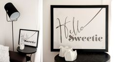 printable poster  Hello Sweetie  Dr.Who inspired by gumberrypl