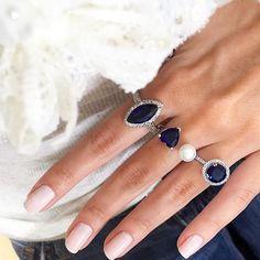 Anéis em zircônias safira em diversos modelos.. • Compre online…