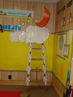Jacob's ladder. You can measure kids height against the ladder. 'Watch how I grow'- for example .