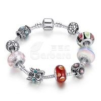 Barbara丨925 Silver Snake Chain Charm Bracelet for Women Fashion Jewelry (Size: 20 cm)