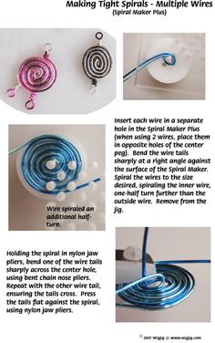 How to Make Wire Jewelry Spirals