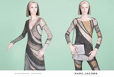 Marc Jacobs FW 2014-2015 campaign featuring Julia Nobis and Waleska Gorczevski. Photographed by David Sims.