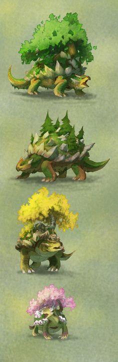 Pokemon variations: Torterra by turnipBerry on DeviantArt