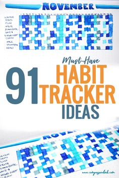 Habit Tracker Ideas for Your Bullet Journal - This list of habit tracker ideas gives you a massive amount of ideas to start tracking your habits in your bullet journal today. Whether you track your habits monthly or weekly in your bujo, these habit tracker ideas have you covered!  #bujo #bulletjournal #habittracker #bulletjournaltracker