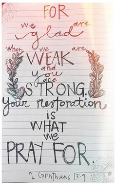 When we are weak, HE is strong.