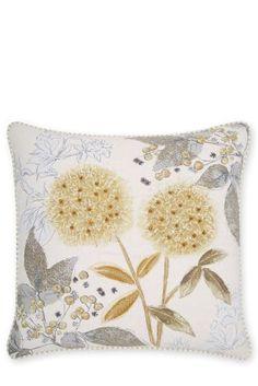 Buy Embellished Natural Botanical Floral Cushion from the Next UK online shop
