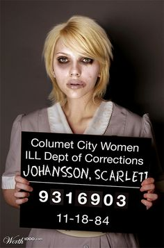 Celebrity Mugshots 2 - Worth1000 Contests. Scarlett busted