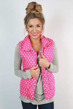 Vests are great for looking pretty while staying warm!