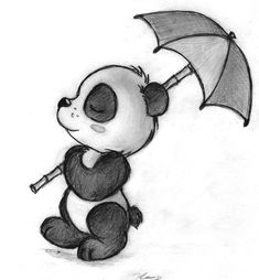 Panda Parasol Stroll by TehMomo.deviantar… on Panda Parasol Stroll by TehMomo.deviantar… on Tumblr Drawings Easy, Pencil Drawings Tumblr, Cute Easy Drawings, Cool Art Drawings, Cute Animal Drawings, Art Drawings Sketches, Cartoon Drawings, Panda Sketch, Cute Panda Drawing