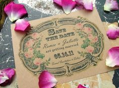 save the date cards Wedding Invitation by sweetinvitationco
