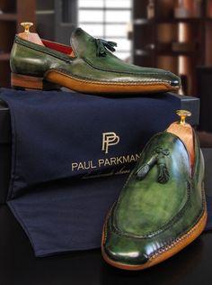Paul Parkman Handcrafted Green Tassel Loafers For Men  Website : www.paulparkman.com