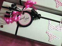 Cute Thank you Wrapping for Bachelorette Party