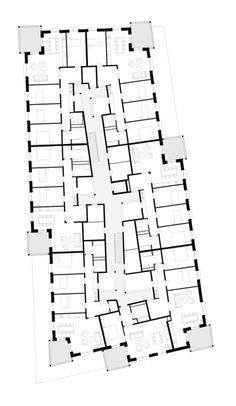 MIROSLAV ŠIK - 'HUNZIGER AREAL' DIALOGWEG 3 & 7, ZÜRICH Arch Architecture, Architecture Graphics, Residential Architecture, Miroslav Sik, Lofts, Hotel Floor Plan, Apartment Floor Plans, Floor Plan Layout, Hospital Design