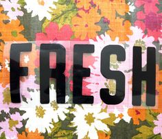 FRESH in Plastic Sign Letters by Thrift Score on Etsy, $15.00