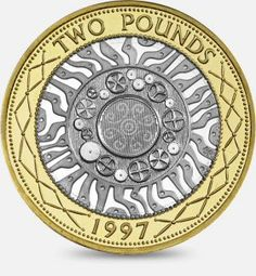Value for Technology 2 pound coin. Is it rare and what's it worth? Rare British Coins, Rare Coins, Rare 50p Coins Value, English Coins, Coin Design, Legal Tender, Coin Worth, Coin Values, Commemorative Coins