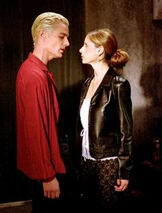 Spike and Buffy. He has a lovely singing voice