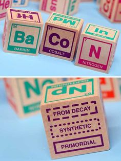 love these periodic table building blocks! SUCH a nerd!