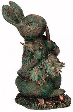 Peter Rabbit Garden Art / Resin with a patina bronze finish. Beatrix Potter, Art Sculpture, Garden Sculpture, Sculptures, Rabbit Sculpture, Rabbit Garden, Rabbit Art, Peter Rabbit And Friends, Bunny Art
