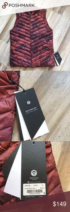 NEW Men's Lululemon Snap Down Button Vest Medium New with tags😊 lululemon athletica Jackets & Coats Vests