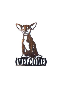 Chihuahua Welcome Sign - CAN BE CUSTOMIZED! by VulcanixArt on Etsy