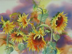 Karlyn Holman-Watercolor paintings, classes and Karlyn's Gallery in Washburn Wisconsin. Floral Watercolor, Watercolor Paintings, Watercolors, Painting Gallery, Diy Painting, Art Techniques, Art Boards, Arts And Crafts, Collage