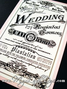 Vintage Steampunk Wedding Invitation Set - The Shelley Collection - Rose, Floral, Banner, Border - By My Lady Dye. $6.4, via Etsy.