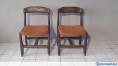 2 chaises chene oak Guillerme et Chambron 60 70 - A vendre