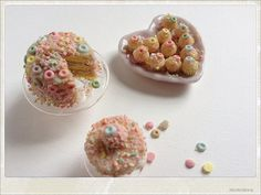 Candy Frosting Birthday Cake Party - Dollhouse Miniature Food