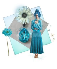 """""""Aqua Marine ~ Gypsy Flower Girl"""" by funkyjunkygypsy ❤ liked on Polyvore featuring Allstate Floral"""