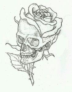 Skull n rose