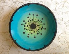 Funky Wish Bowl - would also be nice on a plate! #thepaintedpeacock…