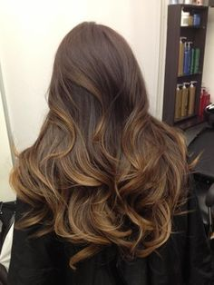 ombre hair tumblr brown to light brown - Google Search