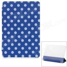 Polka Dot Flip-Open PU Leather Case w/ Auto Sleep / Stand for Xiaomi MIUI Mi Pad - Blue   White Price: $8.57