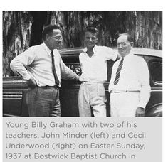 Young, and handsome Billy Graham, first time preaching in 1937!